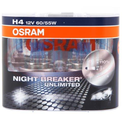 osram night breaker h4 bulbs 12v headlamp upgrades osram. Black Bedroom Furniture Sets. Home Design Ideas